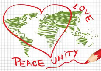International peace in children's vision