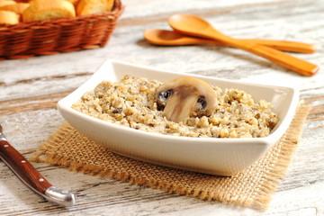 Homemade mushroom pate or spread