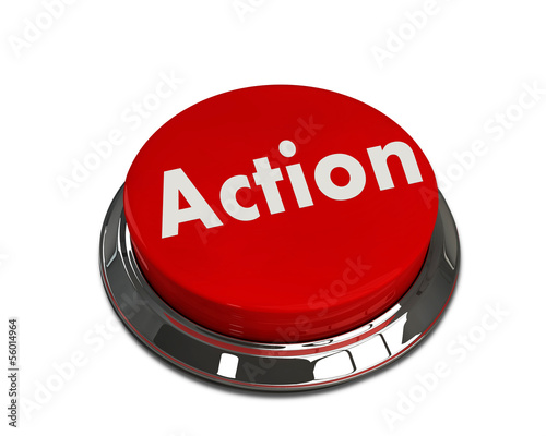Red button with the word Action on it