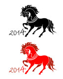 New Year of Horse 2014 symbol isolated