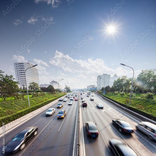 Plakat civil traffic in city