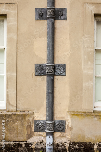 Rain Downspout. .Ornate section.