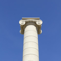 Classical column and capital. Barcelona