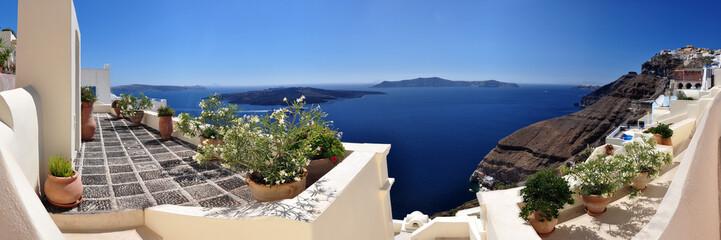 Panoramafoto Santorin mit Caldera
