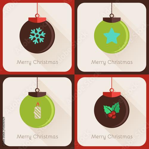 Set II of greeting cards Christmas ball