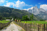 Peaceful view of countryside in Albanian Alps