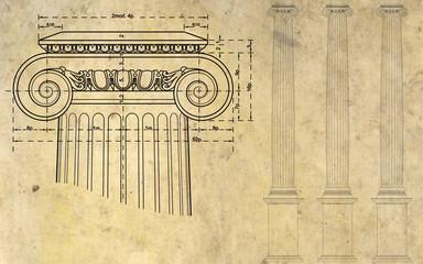 Fondo con columnas
