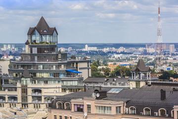 Kiev panorama from Bell tower of Sophia Cathedral. Kiev, Ukraine