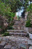 stone steps with ancient symbols - 56018198