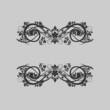 Elegant frame banner, floral elements..