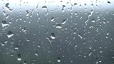 Rain drops on the window glass