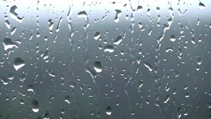Rain drops on the window glass