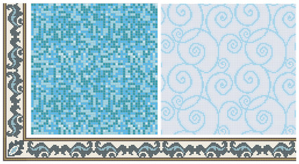 Seamless products from mosaic - frieze, decor, mix