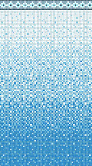 Seamless smooth transition of color mosaic from white to blue