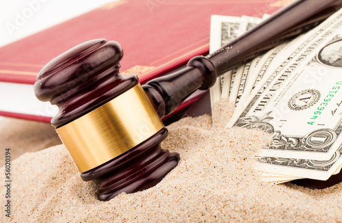 gavel and dollar money