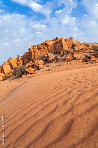 Desert and Rocks in Dubai