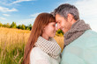 happy autumn couple