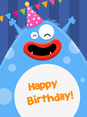 Birthday Monster Card
