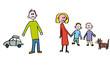 Kinderzeichnung Trennung Familie