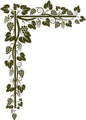 corner of the vine silhouette