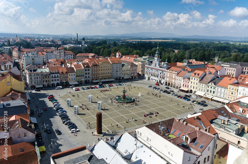 square of Ceske Budejovice