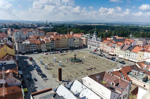 Foto op Aluminium Praag square of Ceske Budejovice
