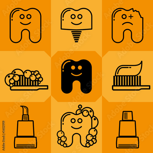 Tooth Icon Set 1