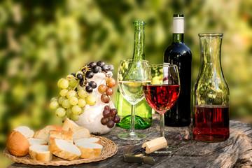 Weinprobe im Herbst