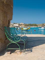 bench at seaside