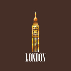 illustration with the diamond big ben icon