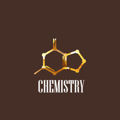 illustration with molecular icon. chemistry concept