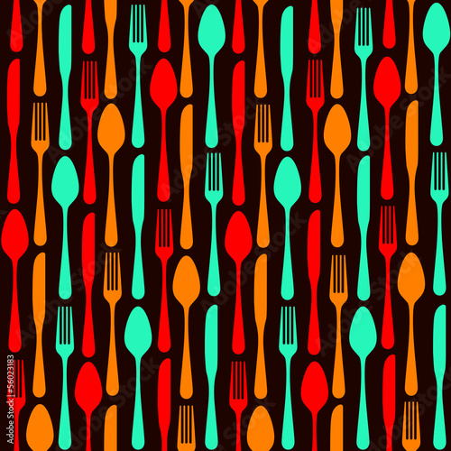 seamless silverware background