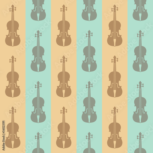 seamless vintage background with violins