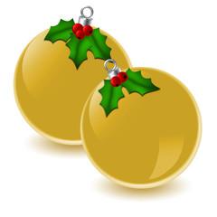 Palle natalizie dorate