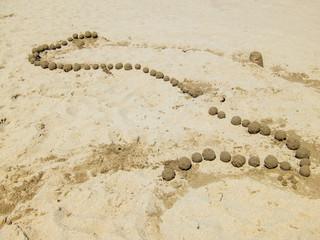 Sentiero di sabbia