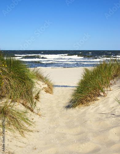 Leinwandbild Motiv Der Weg zum Strand