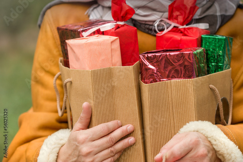 Christmas bags are full after Christmas shopping