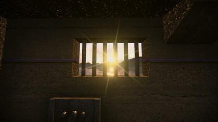 Entering a jail through the window