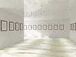 Gallery with blank pictures