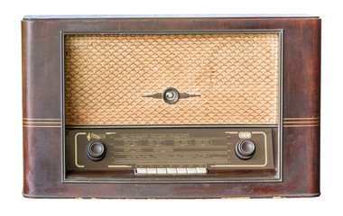 Old radio isolated