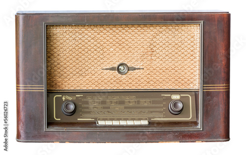 Old radio isolated