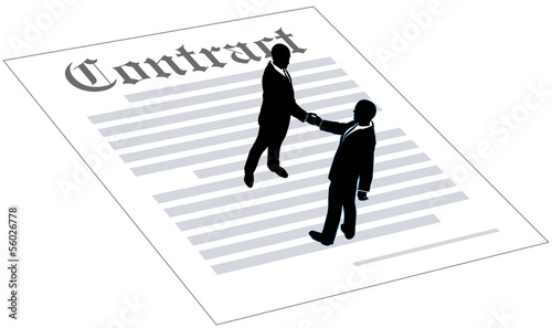 Contract business people sign agreement