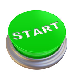 Круглая зелёная кнопка с надписью START