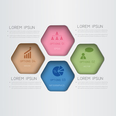 Infographic template for business design.