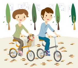 サイクリング カップル