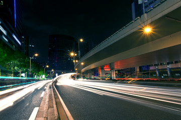 Shanghai city light trails