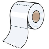 vector cartoon toilet paper
