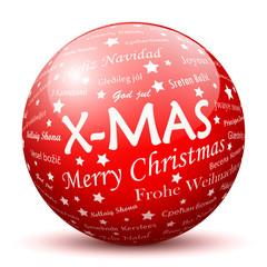 Weihnachtskugel, Dekoration, X-MAS, Kugel, Sphere, Christmas, 3D