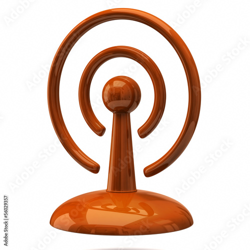Orange signal icon