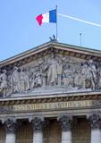 Assemblée nationale avec drapeau - 56029993
